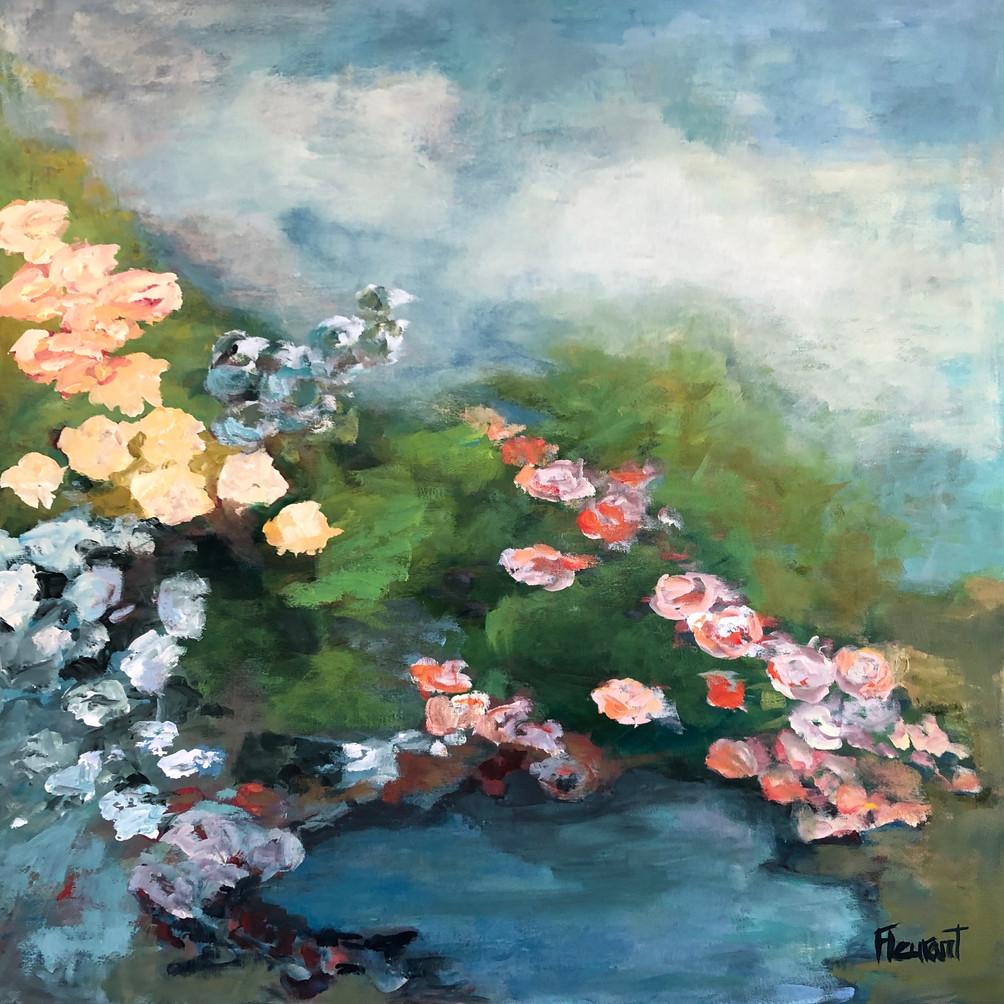 Bouquet de fleurs abstrait 3