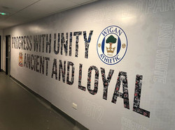 DW Stadium Tunnel Branding