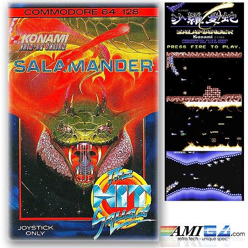 Salamander 'Shoot'em up' for Commodore 64 (Cassette) by Konami