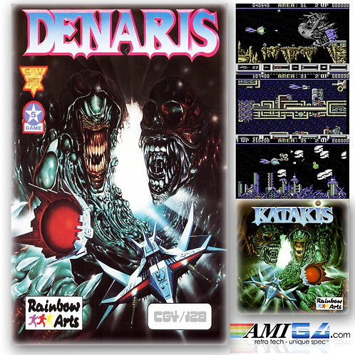 DENARIS /  KATAKIS for Commodore 64 (Cassette) by Rainbow Arts