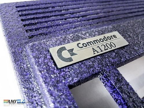 Amiga 1200 Purple textured case badge