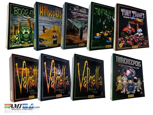 Vulcan mini-series Amiga game boxes montage