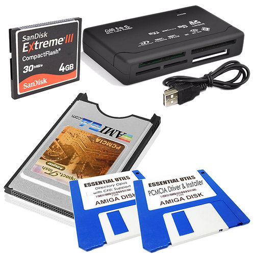 CF Card Kit for Transferring ADF Files to Amiga