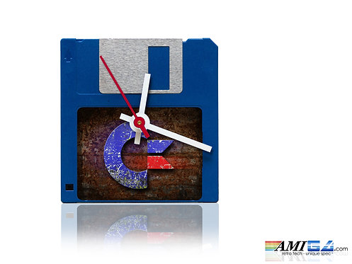 "Commodore logo on 3.5"" Disk Clock"