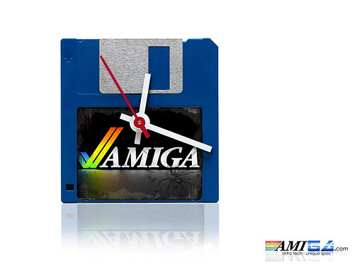 "Amiga logo on 3.5"" Disk Clock"