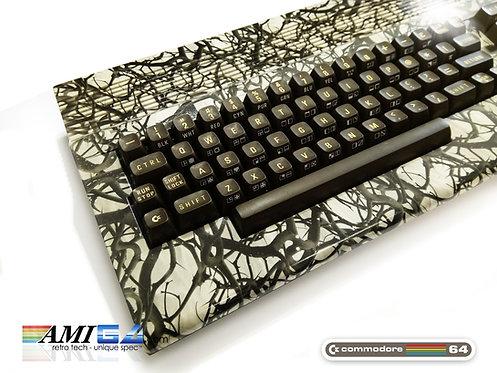 Custom Commodore C64C MKII Computer Keyboard angled