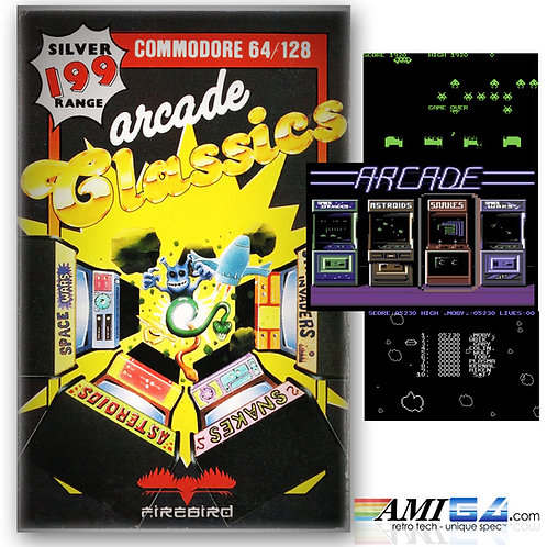 Arcade Classics Collection for C64 (Cassette) by Firebird