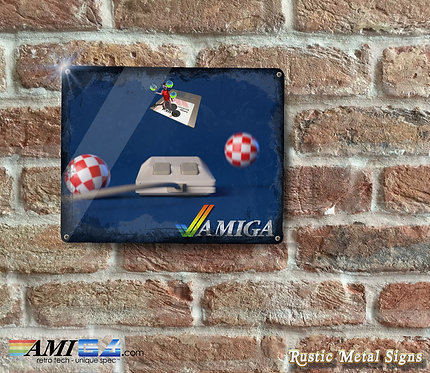 Distressed Looking AMIGA Metal Sign