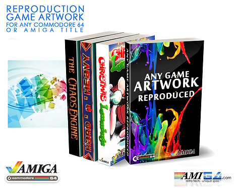 Reproduction Custom Game Covers Amiga C64 boxes cases