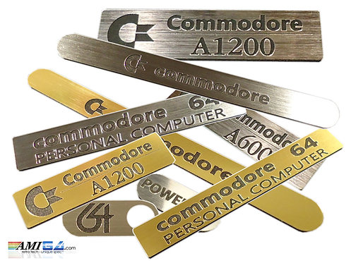 Amiga and Commodore 64 Replacement Badges