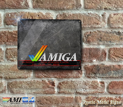 Rustic Looking AMIGA Guru Meditation Metal Sign