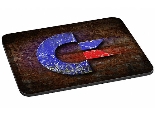 Classic Rustic looking Commodore Logo - Printed Mouse Mat