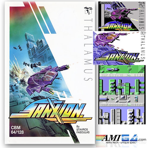 Sanxion for Commodore 64 (Cassette) by Thalamus