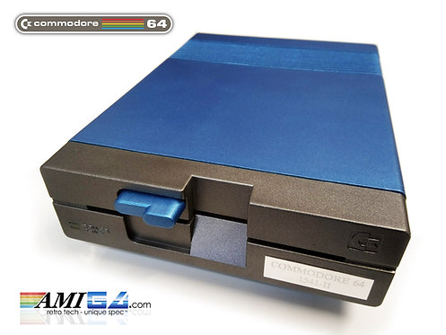 "Commodore 1541-II 5.25"" Disk Drive MKII MK2 in metallic Blue"