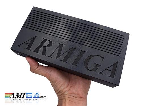 ARMIGA black A500 / A1200 Emulator Gaming Box being held