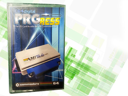 PRGress SD Card Reader for Commodore 64 Packaging tapecart