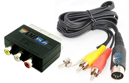 Commodore 64 to SCART TV Cable