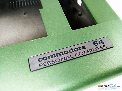 Metallic Green Commodore 64 badge