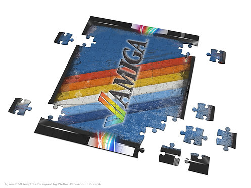 Coloured Stripes Amiga Logo Jigsaw puzzle