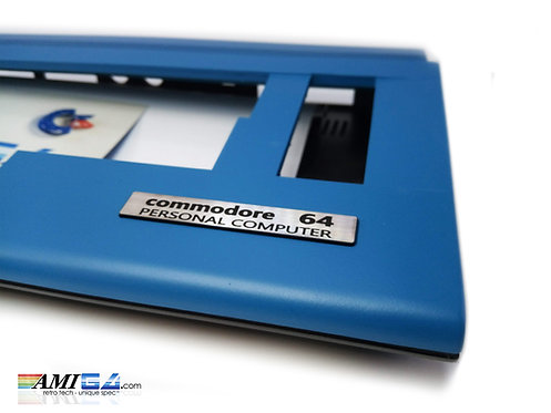 Denim Blue Commodore 64C Case corner