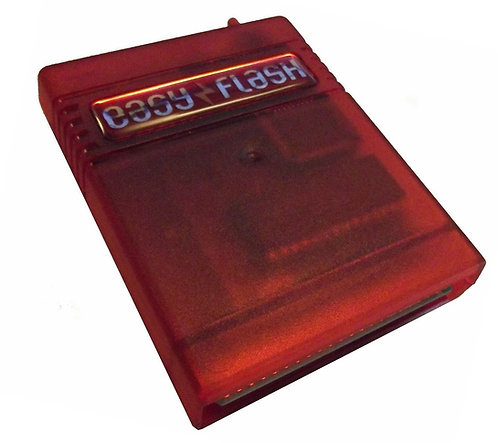 Easy Flash Cartridge in Crystal Red for Commodore 64