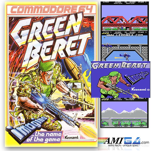 Green Beret for Commodore 64 (Cassette) by Konami