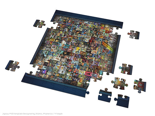Retro Gaming Jigsaw Puzzle AMIGA Games