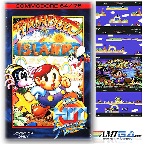 Rainbow Islands for Commodore 64 (Cassette) by Taito