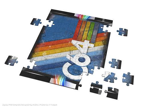 Rainbow Coloured C64 Logo Jigsaw Puzzle