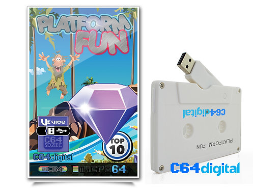 C64Digital USB for Commodore 64 Platform Games