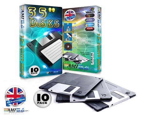 new box of 10 3.5 inch floppy disks - Amiga - PC - Acorn - Atari