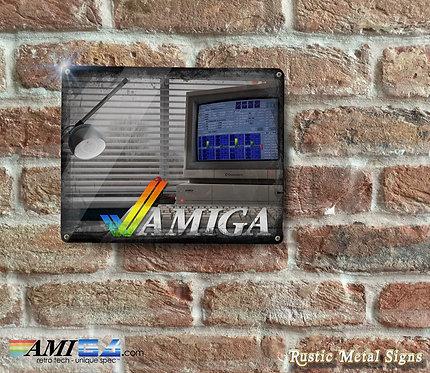 Amiga PROTRACKER Rustic Metal Sign