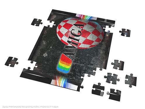 AMIGA logo and vibrant Boing Ball Jigsaw Puzzle