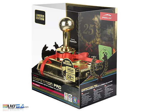 Competition Pro USB Gold Joystick with 50 Games Box