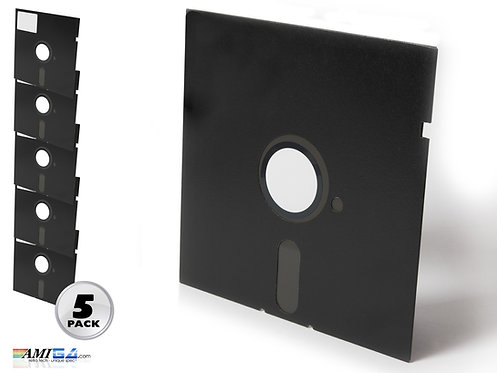 Pack of Five 5.25 inch floppy disks for Commodore 64