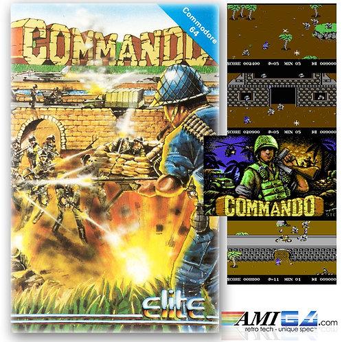 Commando for Commodore 64 (Cassette) by Ocean