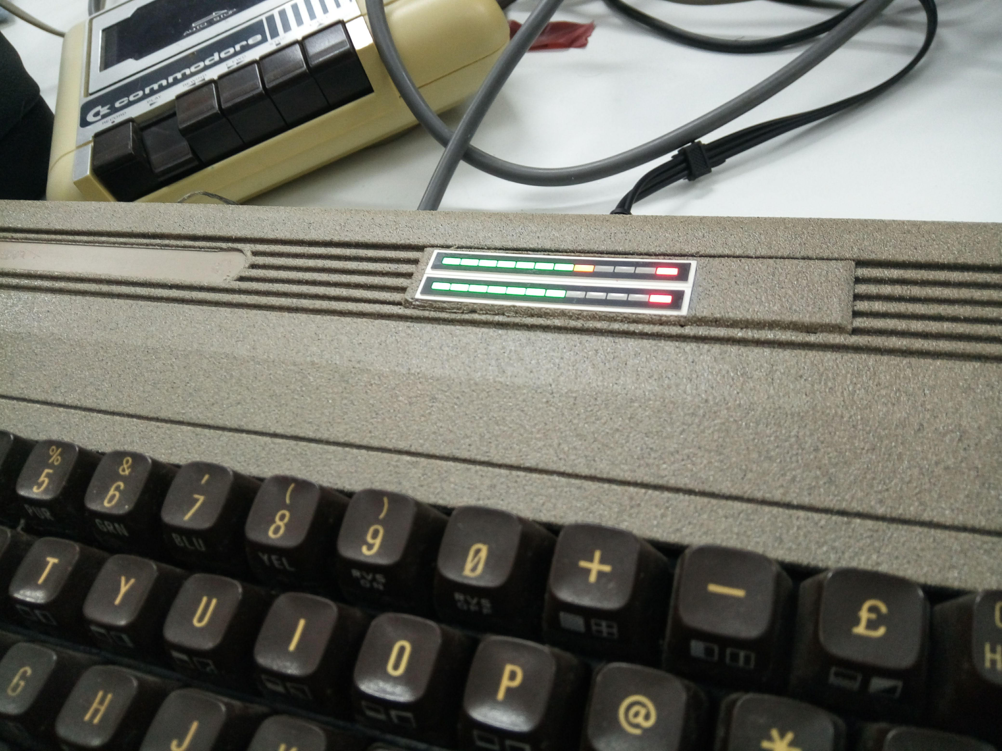 Stone C64 with VU meter