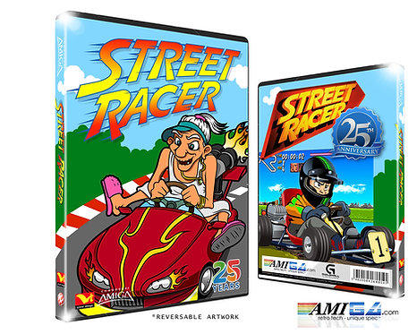 Street Racer Box Artwork Angled Amiga 25th Anniversary Edition