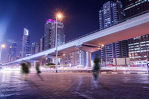 eclairage public ville éclairee