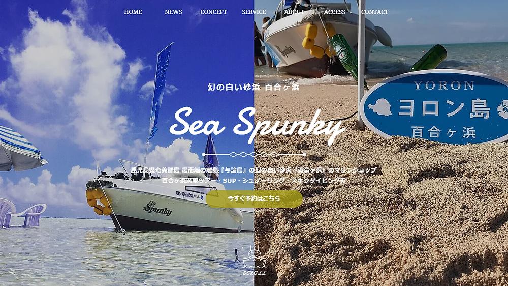 Sea Spunky ホームページ公開