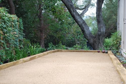 Bocce court under the oaks
