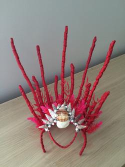 Red Mermaid Headdress