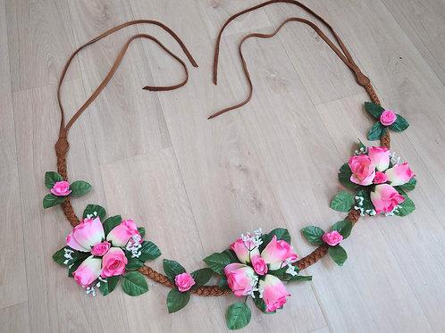 Collier floral - Romantique Rose
