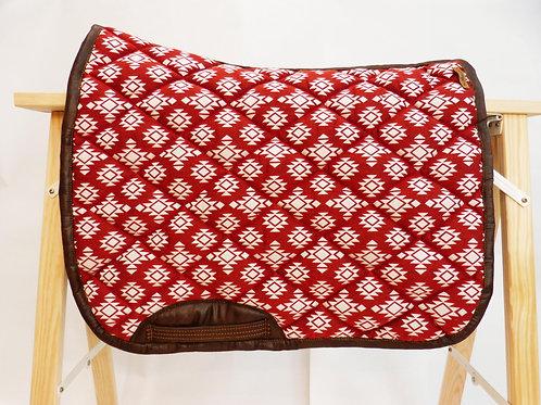 Tapis de selle - All over Amérindien rouge