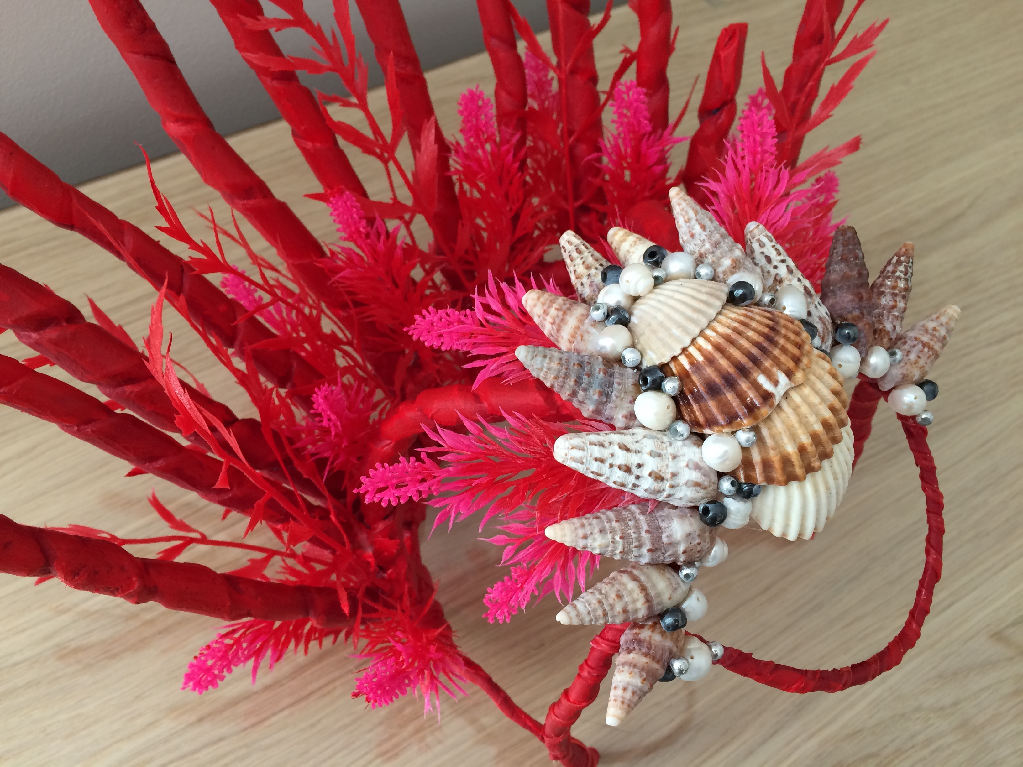 Red Mermaid Headdress