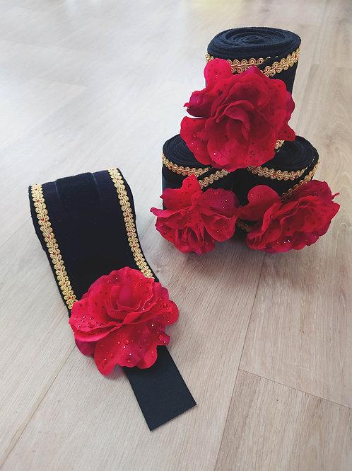 Bandes polaires de Spectacle (bande de polo) - Roses rouges
