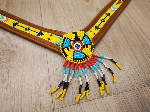 Collier d'encolure - Amérindien Jaune