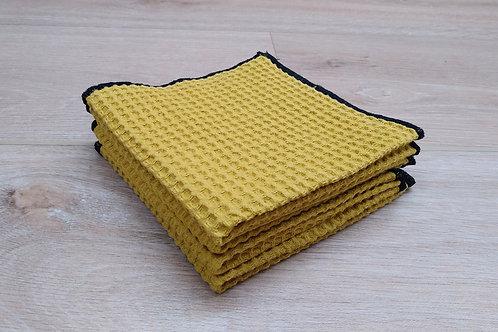 Ensemble lingette Nid d'abeille - Format carré x4 - Séchage