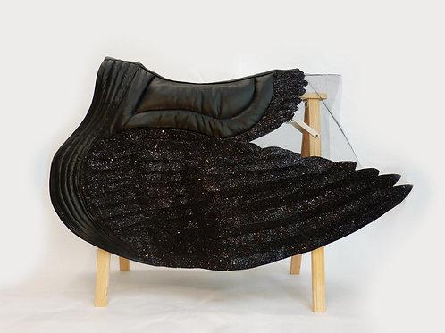 Tapis de selle - Pégase noir