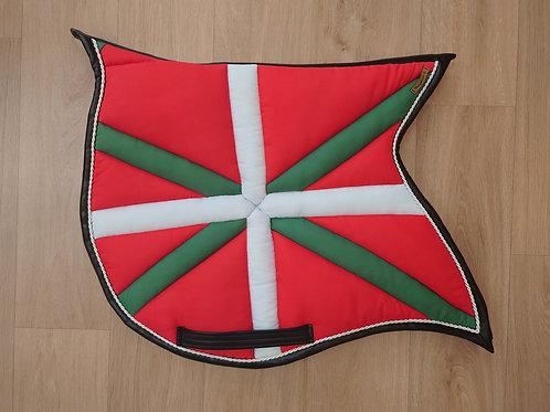 Tapis de selle - forme ibérique - Ikurrina Pays Basque